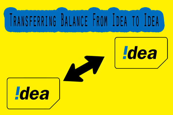 how to transfer balance in idea