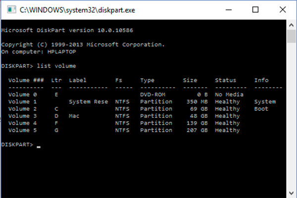 Disk lock or Hide partition in windows