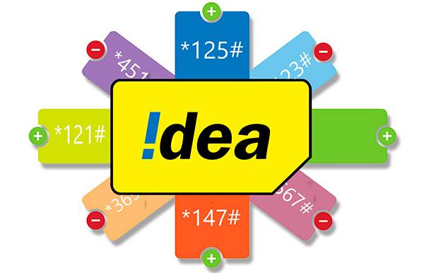 Idea USSD Codes List