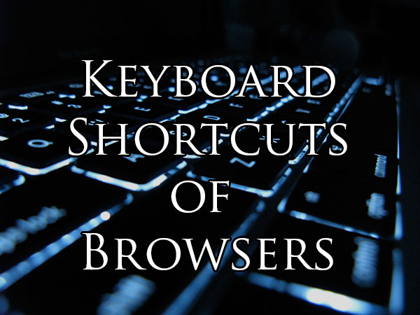 keyboard shortcuts for browsers