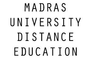 Madras University Distance Education Complete Details