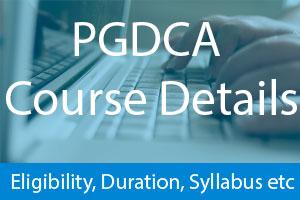 PGDCA Course Details