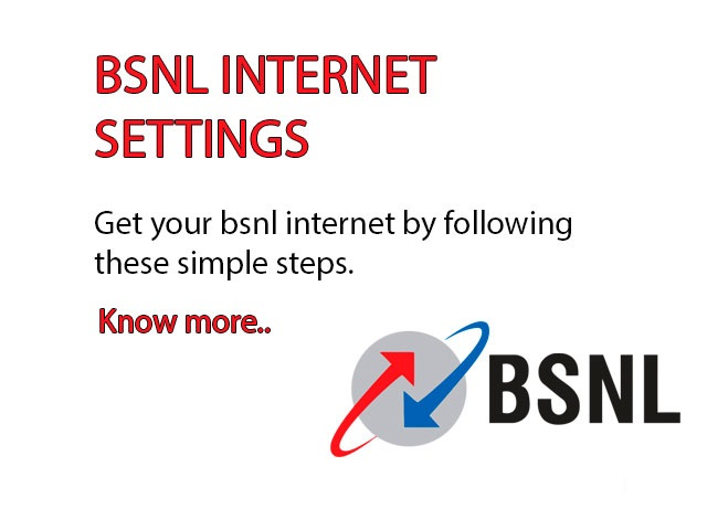 BSNL Internet Settings