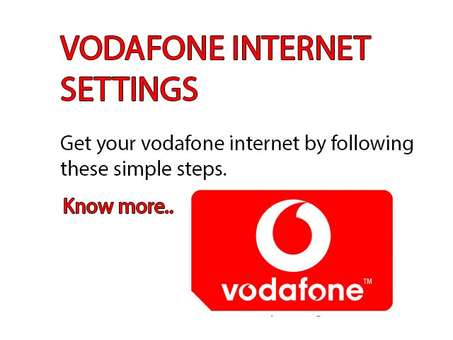 Vodafone Internet Settings