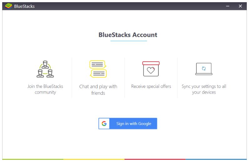 bluestacks account